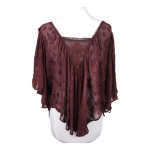 Urban Outfitters Kimchi Blue Sz M Burgundy blouse